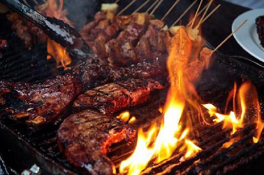 Как приготовить на костре говядину