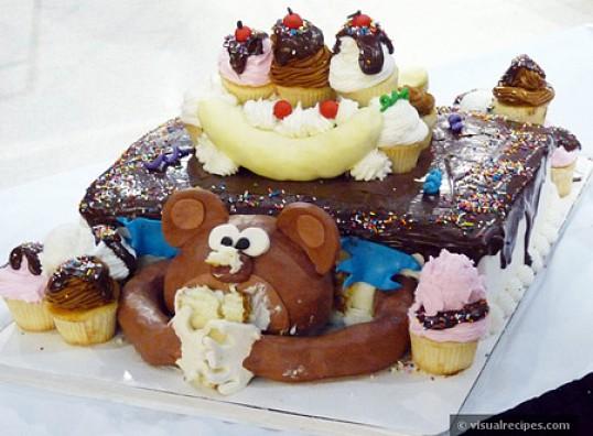 Маша и Медведь.  Торт на заказ =Тортомания.dp.ua = тел.