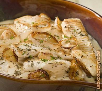 Треска в сливочном соусе в духовке рецепт