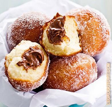 пончики с шоколадом в духовке рецепт