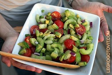 салат из свежих овощей рецепты