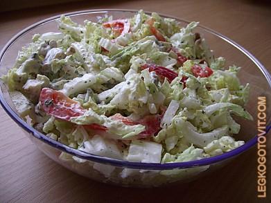 рецепта салат из пекинской капусты