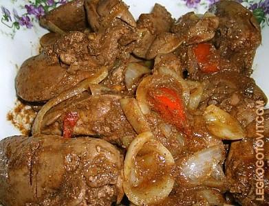куриная печень рецепты жареная с луком и томатом