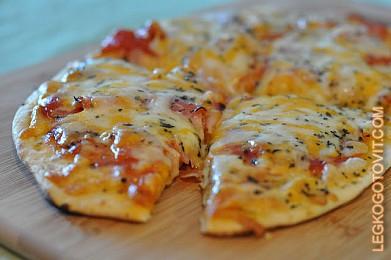 пицца на лаваше рецепт с фото