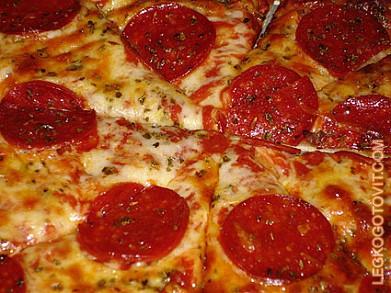 Пицца с салями рецепт