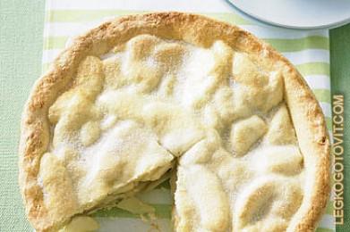 яблочный пирог из песочного теста рецепт с фото