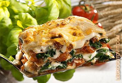 Лазанья со шпинатом рецепт