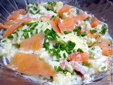 салат вкусный из форели рецепт