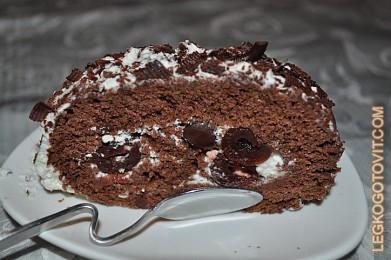 шоколадный рулет рецепты с фото