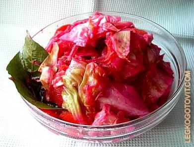 Рецепт маринование капуста пелюстки