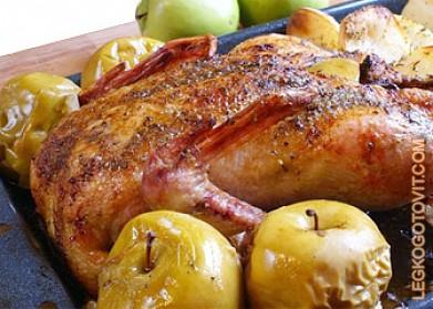 Рецепты утки с яблоками